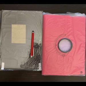 Accessories - New Magenta IPad 5 Air case pen & screenprotector